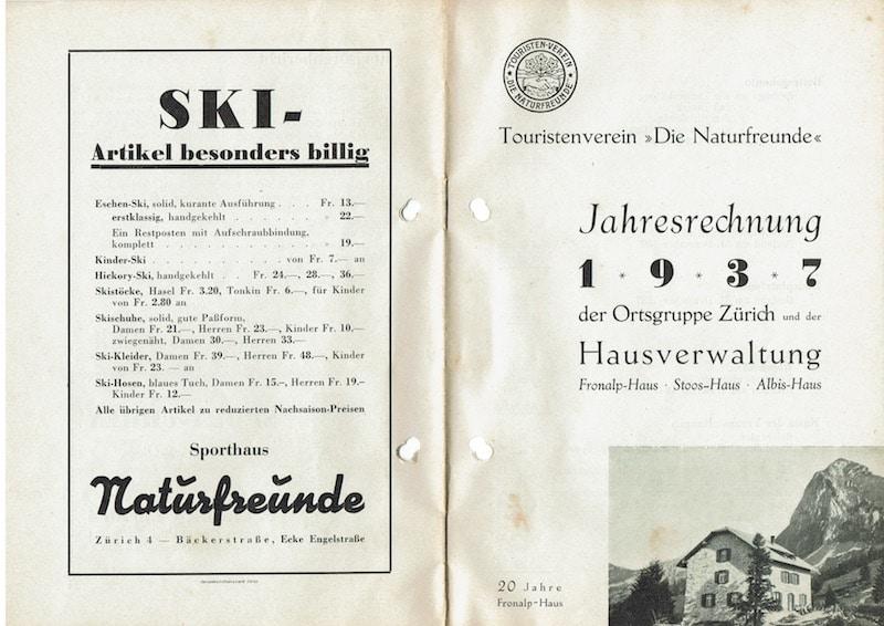 Jahresrechnung 1937