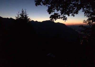 Abendstimmung Richtung Glarner Unterland und Linthebene