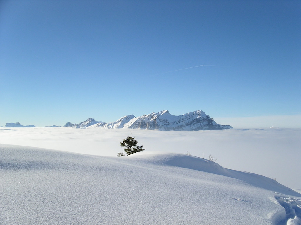 Glarnerland - Nebelmeer im Winter