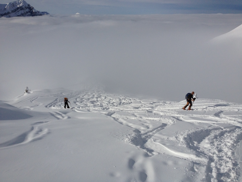 Skitourenfahrer Schilt