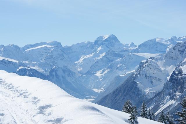 Winter Wanderweg und Tödi