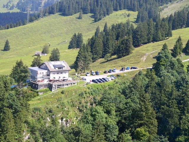 Naturfreundehaus Luftaufnahme