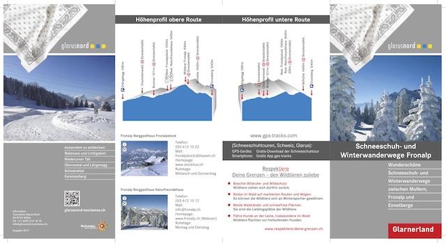 Flyer Schneeschuh- und Winterwanderwege Mullern-Fronalp-Ennetberge - Höhenprofil