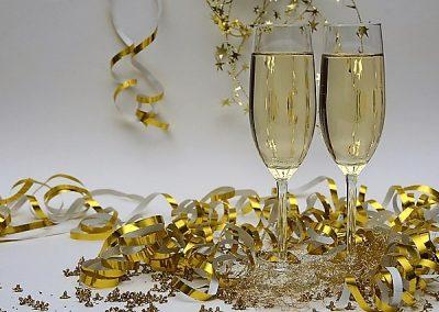 Silvester-Champagner