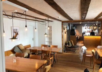 Restaurant und Buffet nach Umbau