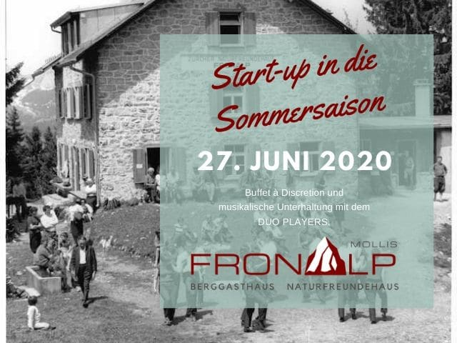 27.  Juni 2020 Start-up in die Sommersaison