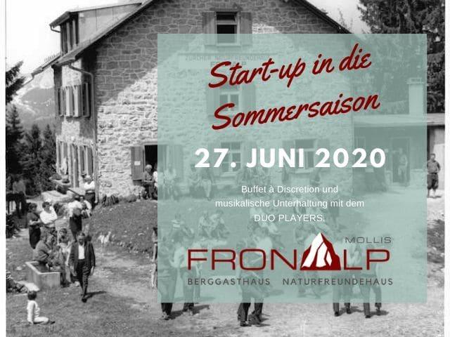 27.  Juni 2020 Start-up in die Sommersaison