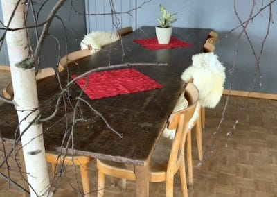 Tisch im Saal