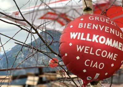 Willkommens-Ballon