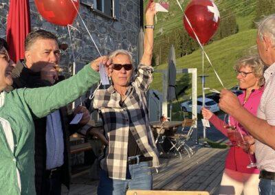 Ballons und Gäste