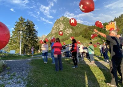 Luftballons am Start