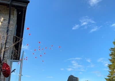 Luftballons gestartet