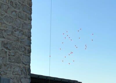 Luftballons unterwegs