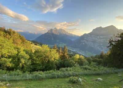 Aussicht auf Glarus Süd mit Tödi und Glarus Mitte mit Klöntal und Netstal