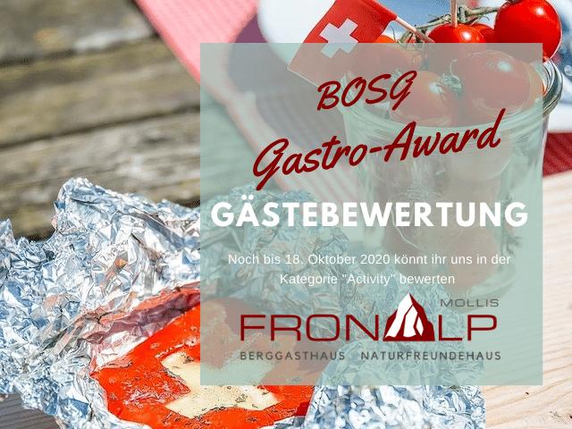 Wir kämpfen um die BOSG Gastro-Awards